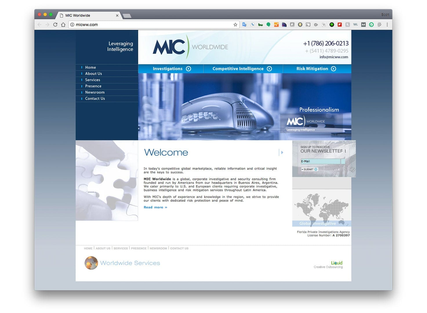 MIC Worldwide Web Design - Miami - Before