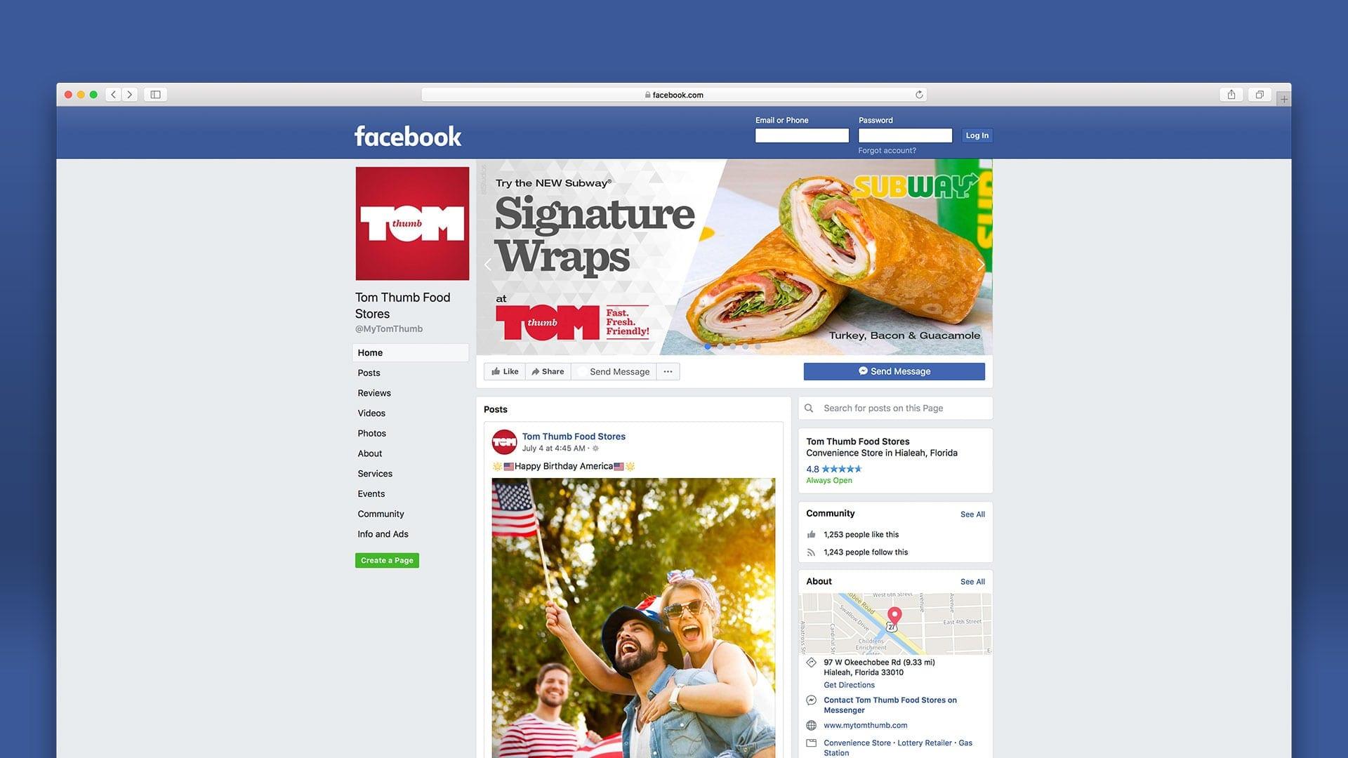 Tom Thumb Food Stores Digital & Social Media Marketing - sliStudios Miami Beach