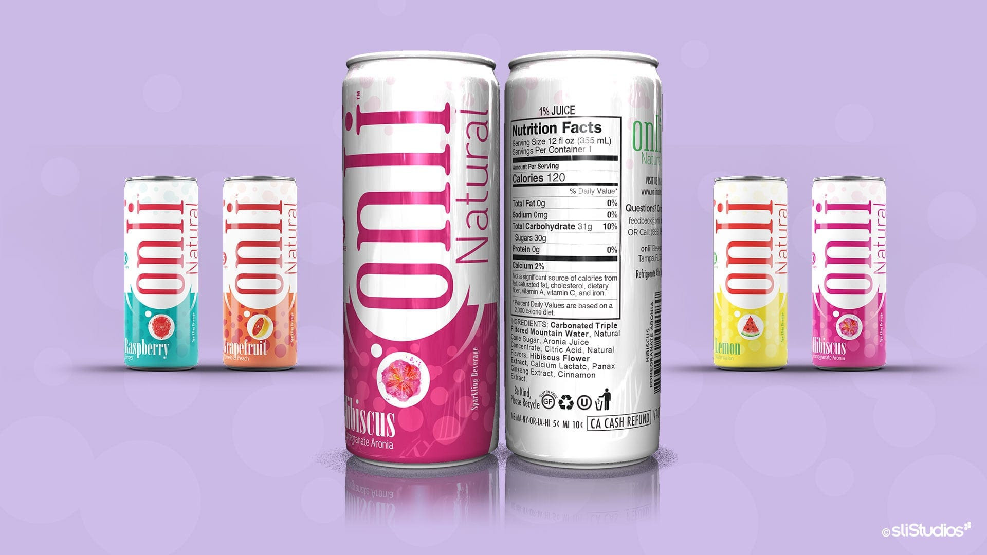 Onli Natural Beverage Branding - sliStudios Creative Agency Miami