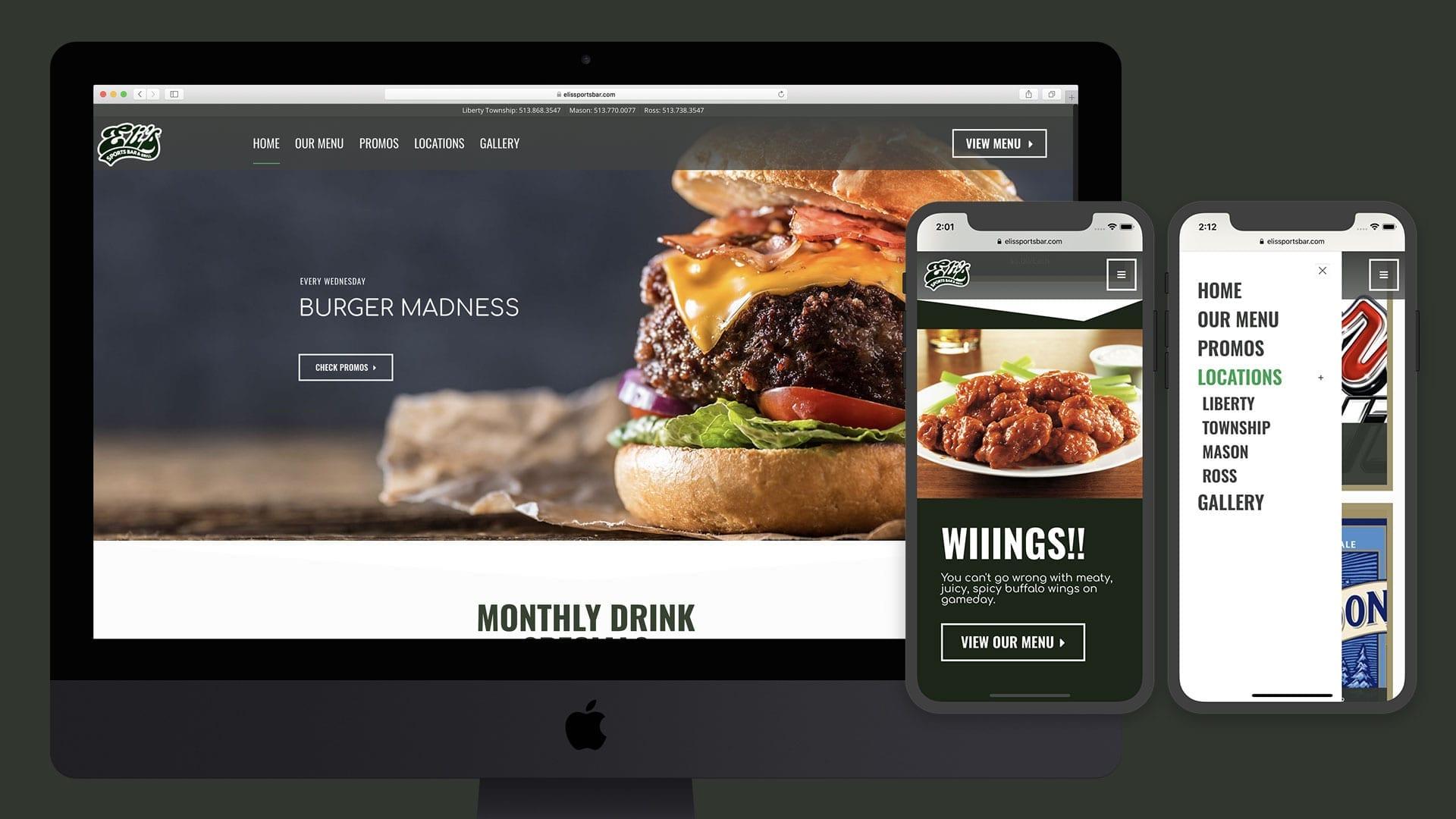 Restaurant Website Design - sliStudios - bizProWeb Website Builder