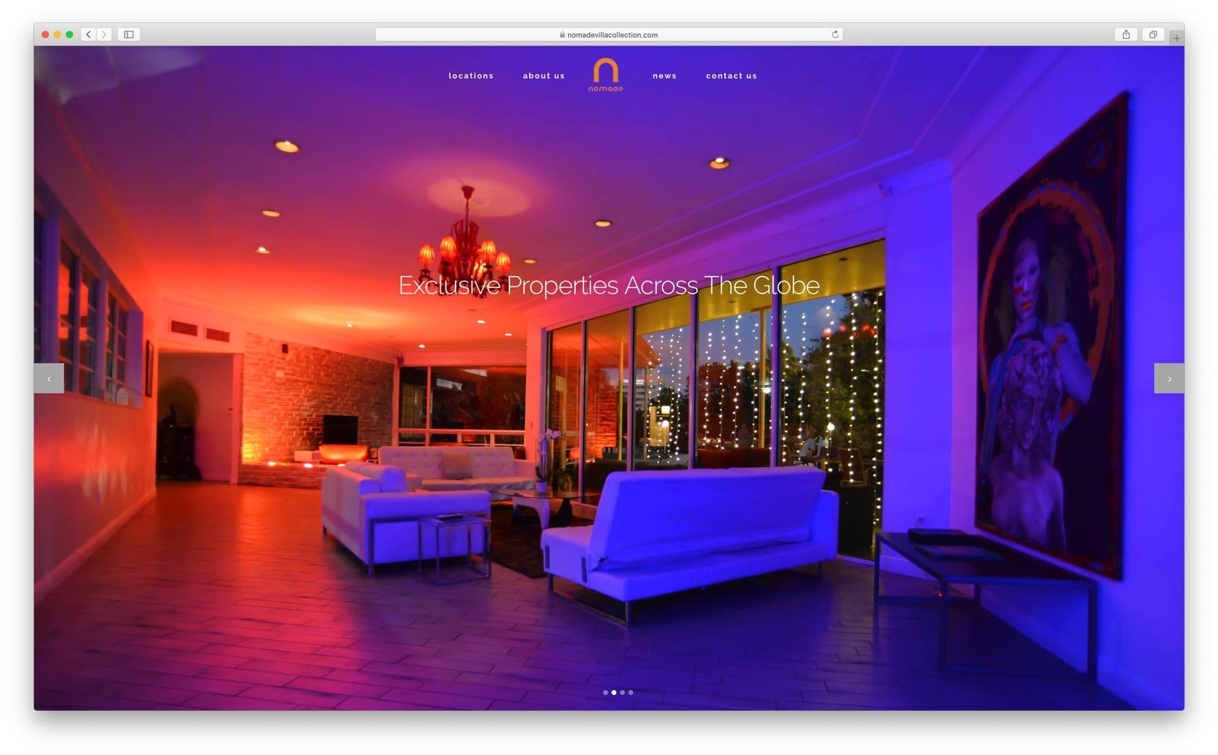 NomadeVillaCollection.com - Vacation Rental Website Design - sliStudios
