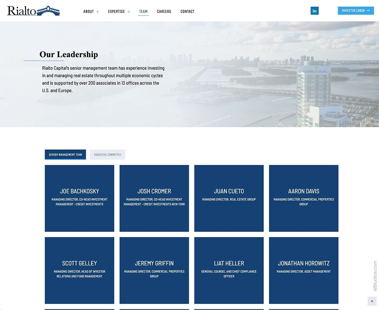 Team Members - Rialto Capital Website Design - sliStudios