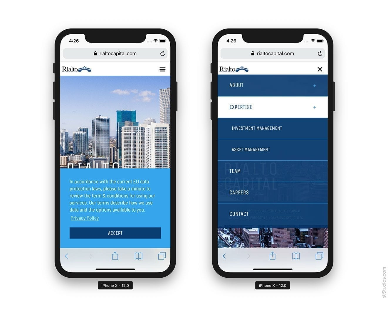 Mobile Website - Rialto Capital