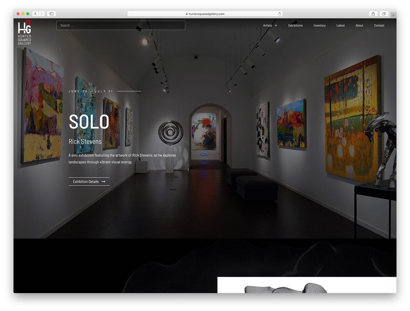 Hunter Squared Contemporary Art Gallery, Santa Fe, NM - sliStudios Web Development, Miami Beach