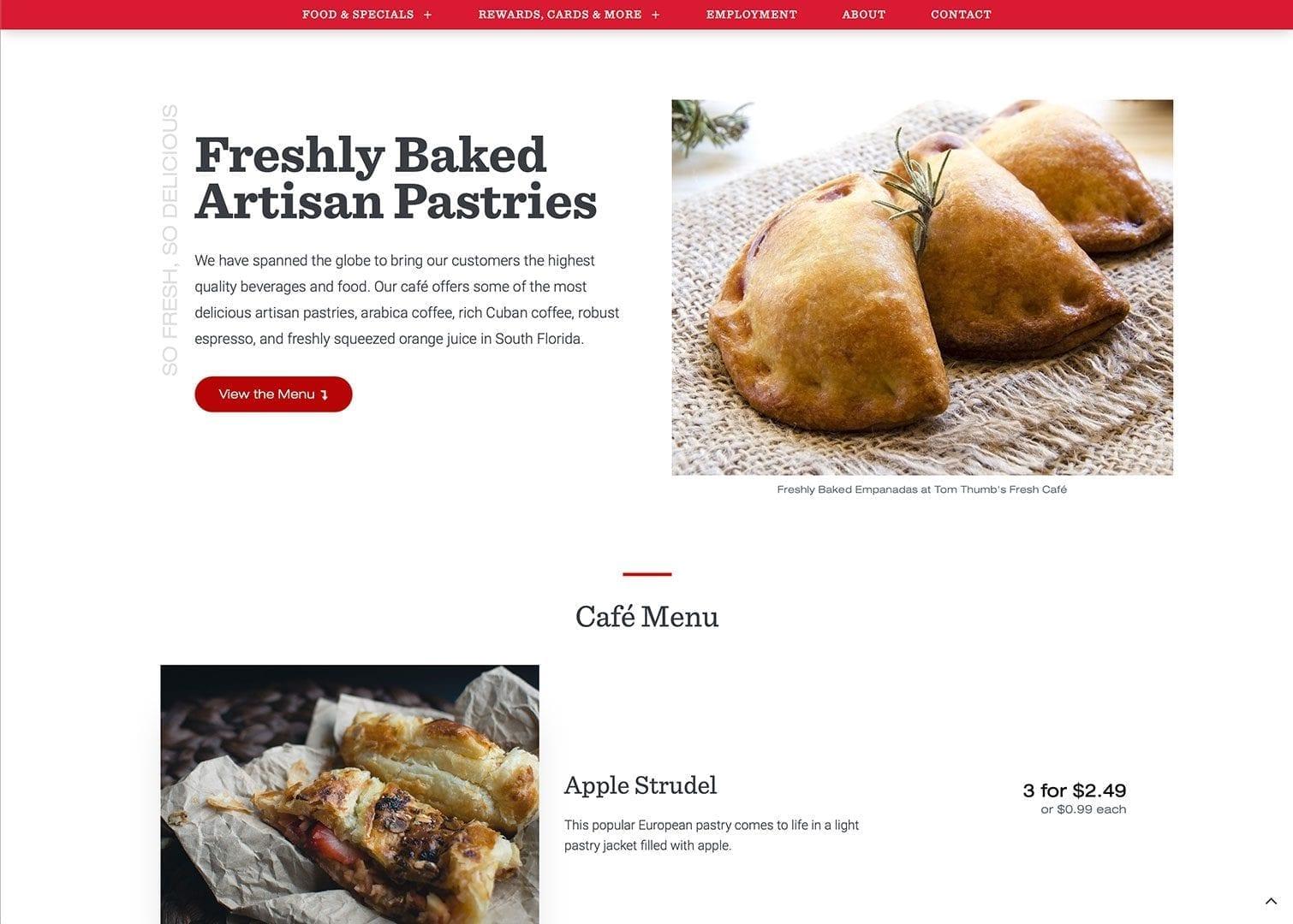 Café Menu - mytomthumb.com - sliStudios Web Development