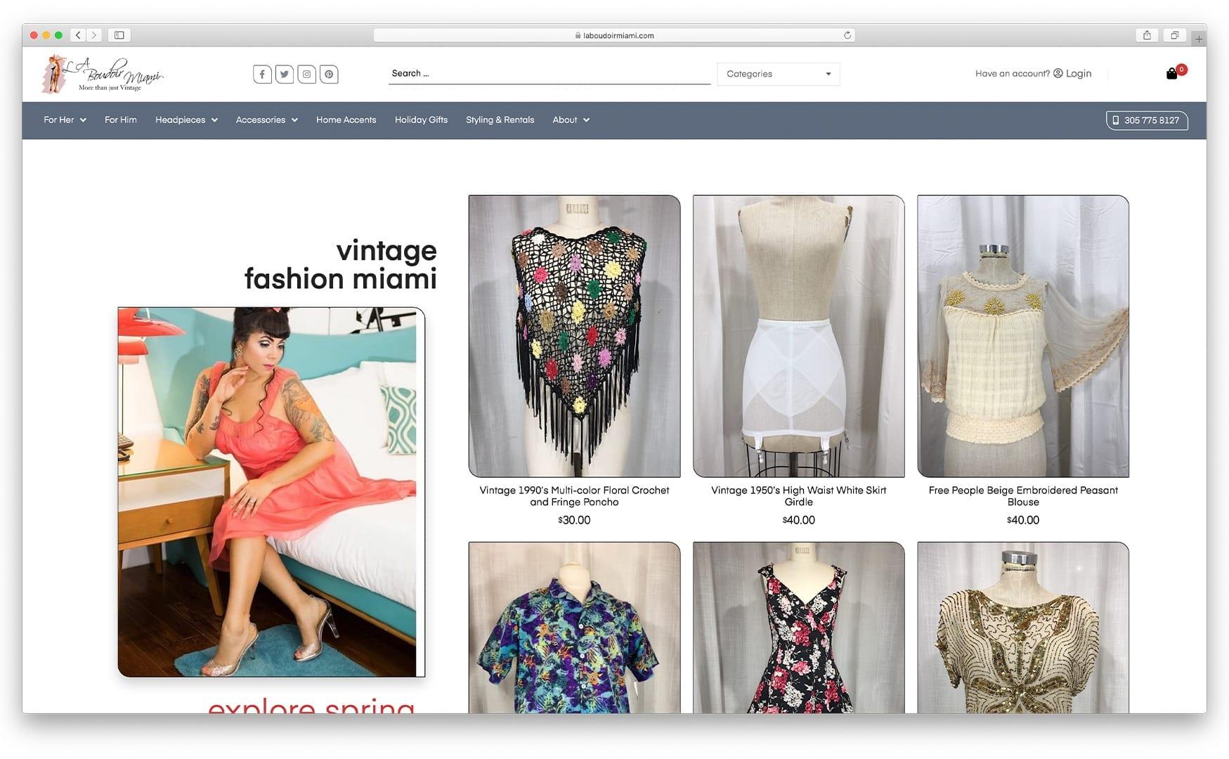 New Website Design - laboudoirmiami.com - Online Store Built with bizProWeb   Miami