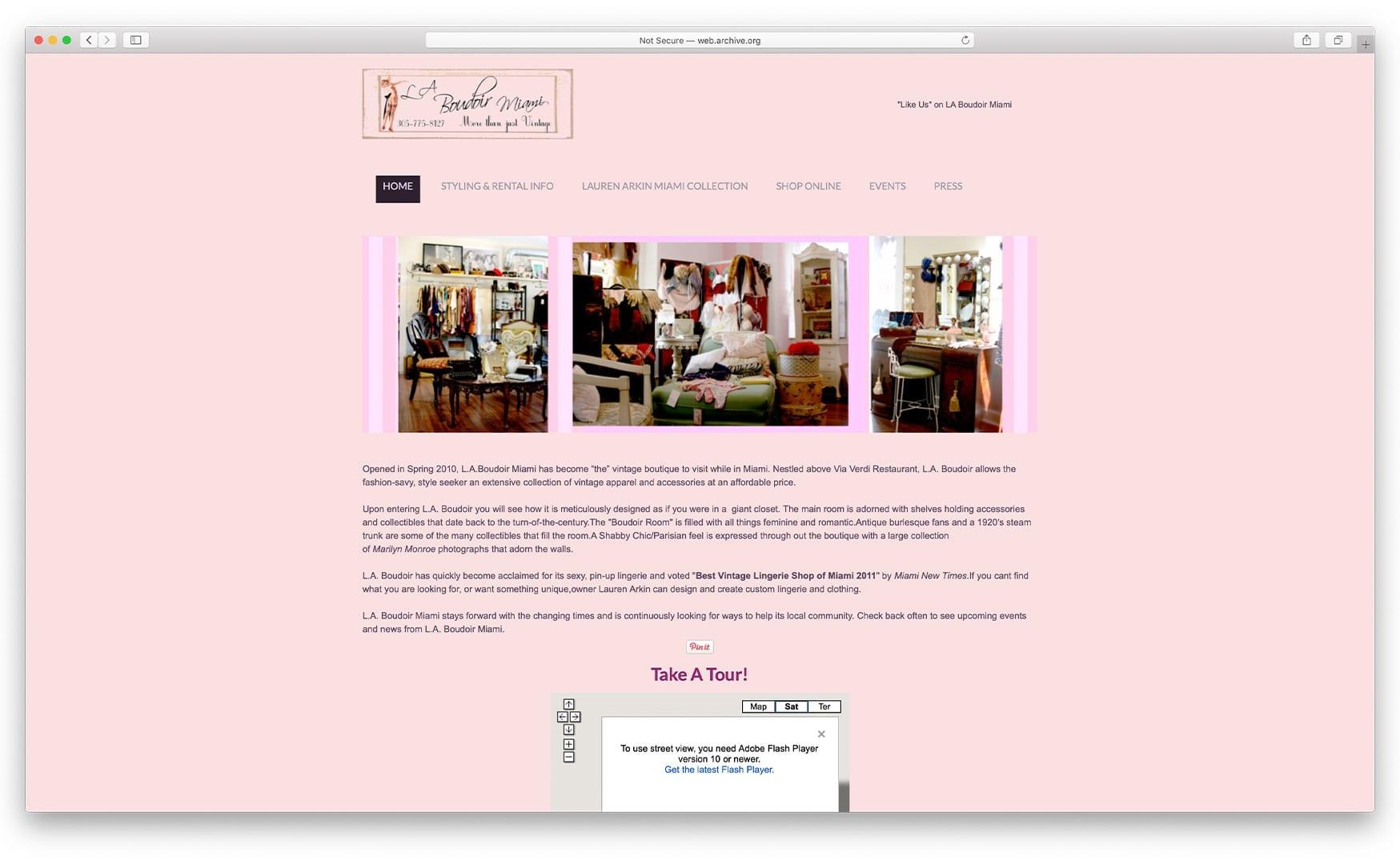 Previous Website Design - laboudoirmiami.com - Online Store Built with bizProWeb   Miami