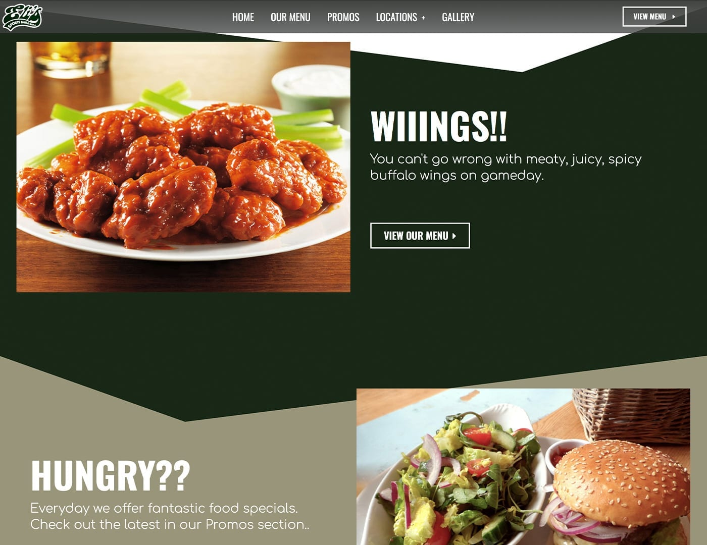Home Page CTAs - Restaurant website design - sliStudios   Miami