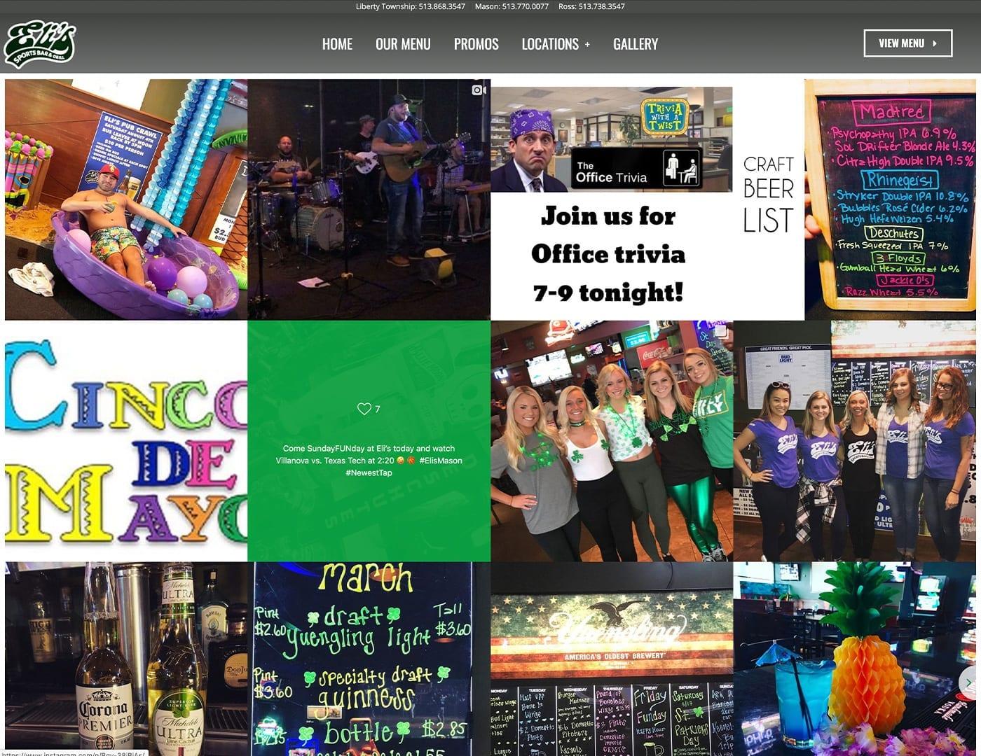Instagram Gallery - Restaurant website design - sliStudios   Miami