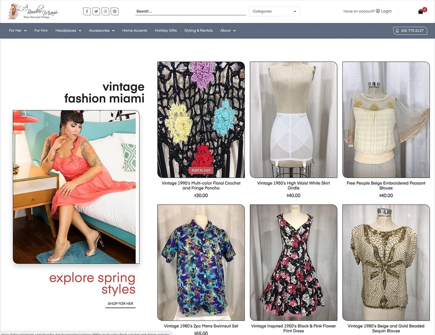 Home Page Design - laboudoirmiami.com - Built with bizProWeb | Miami