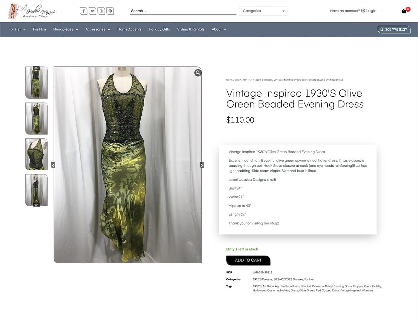 Single Product Layout - laboudoirmiami.com - Online Store Built with bizProWeb | Miami