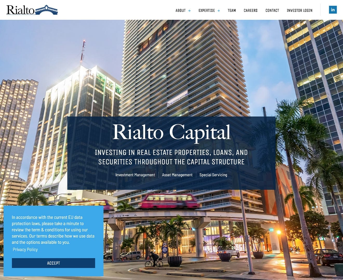 Rialto Capital – New Website Design by sliStudios