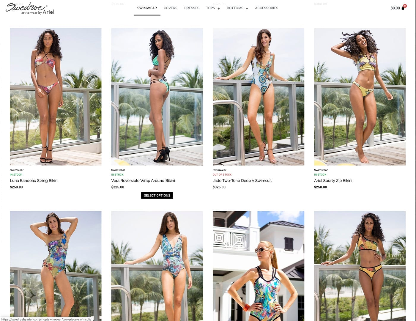 Store Product Pages – swedroebyariel.com - Online Store built with bizProWeb - Website Design by sliStudios | Miami