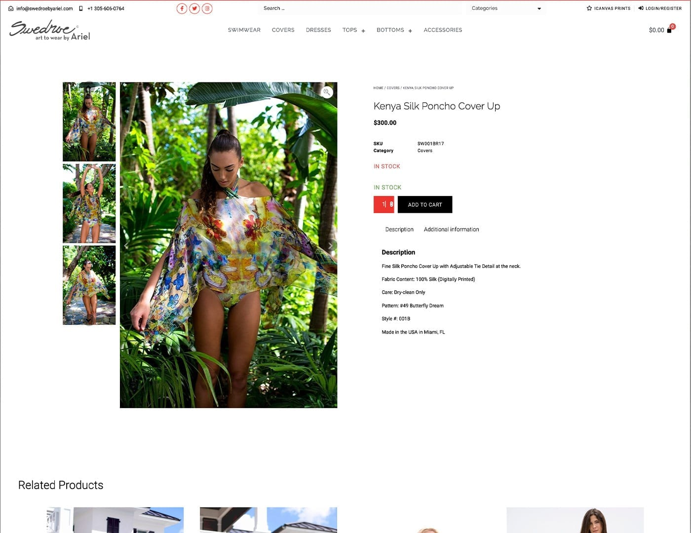 Single Product Layout – swedroebyariel.com - Online Store built with bizProWeb - Website Design by sliStudios | Miami