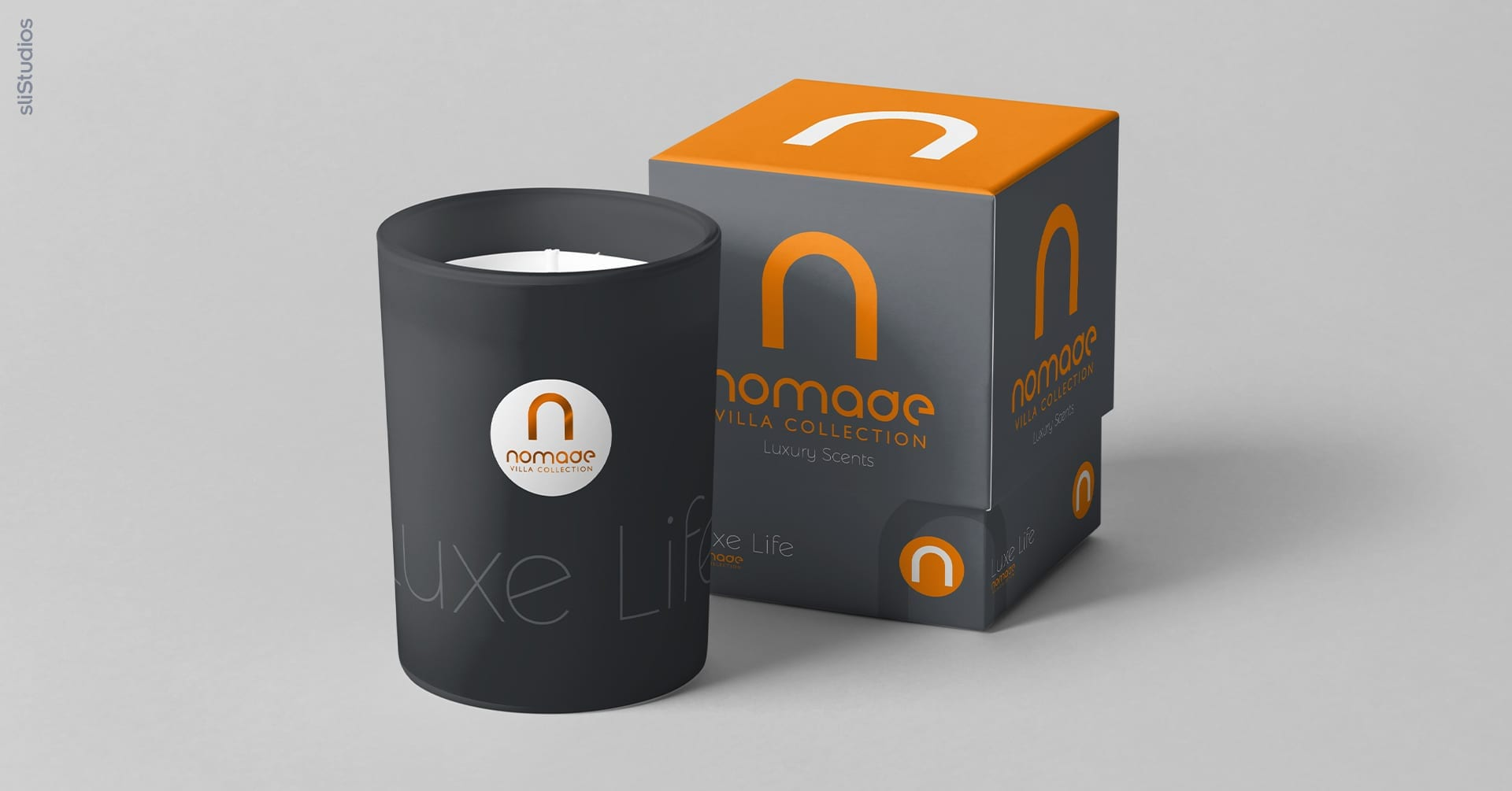 Custom Scent and Candle Product Design for Nomade Villa Collection | sliStudios Creative Design Agency in Miami