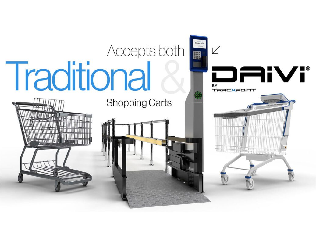 Tracxpoint's CHECXiN Cart management system accepts both Traditional and Davi® Smart Carts