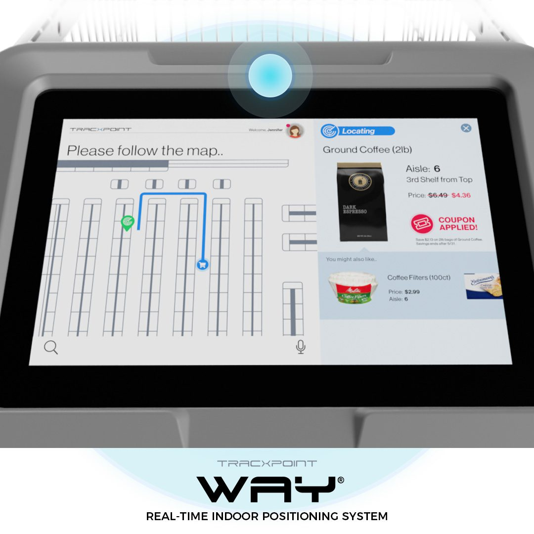 Tracxpoint Graphic User Interface design – Onboard Store Navigation
