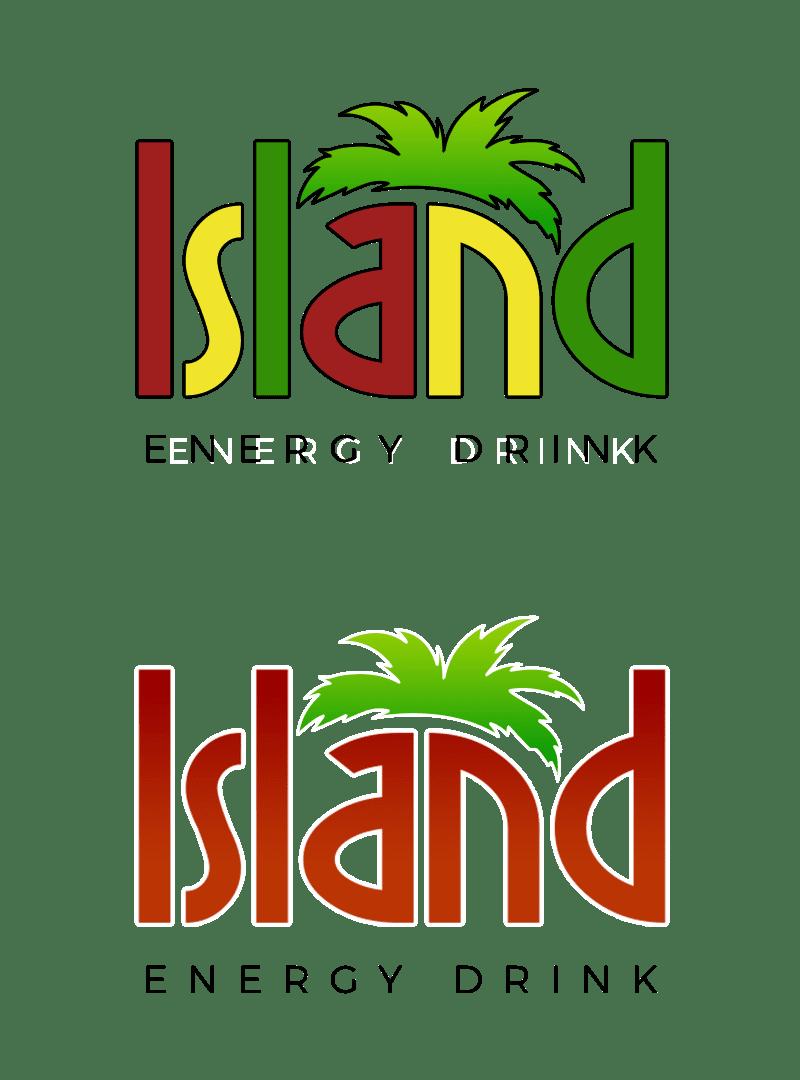 Island Energy Drink logo design concepts by sliStudios Miami Beach
