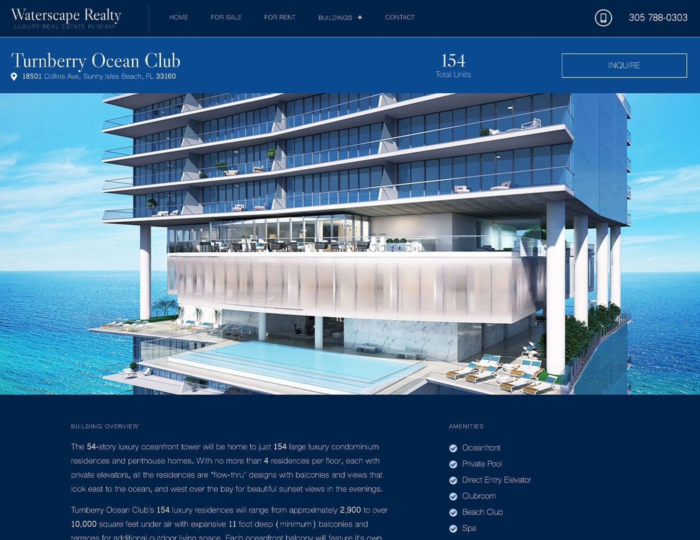 Waterscape Realty website design in Miami